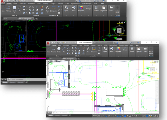 autocad background colour