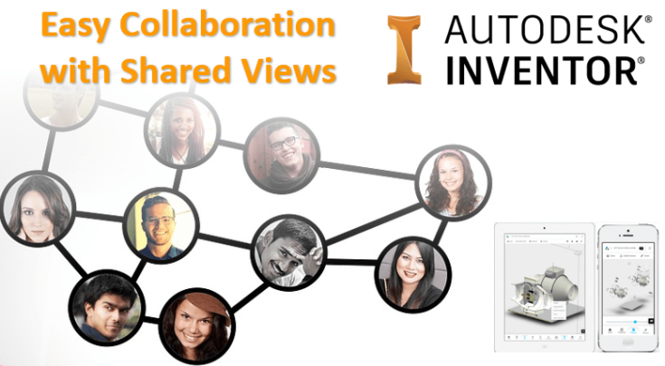 Autodesk Inventor Collaboration shared view clint brown]