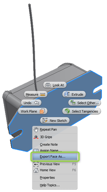 Inventor: Quick DXF Export From Faces & Sketches