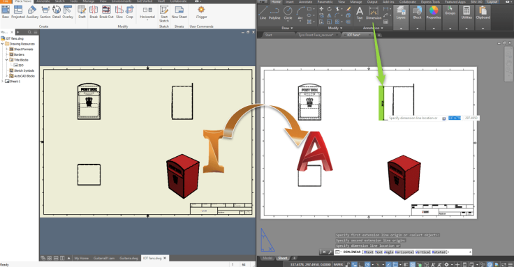 inventor dwg in autocad