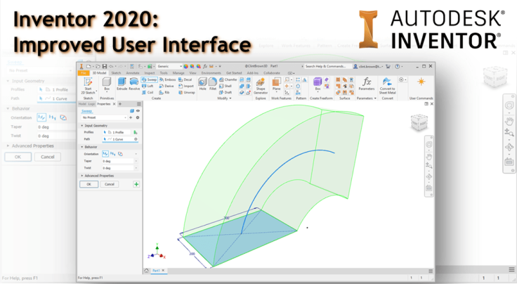 @ClintBrown3D Autodesk Inventor 2020 new user interface