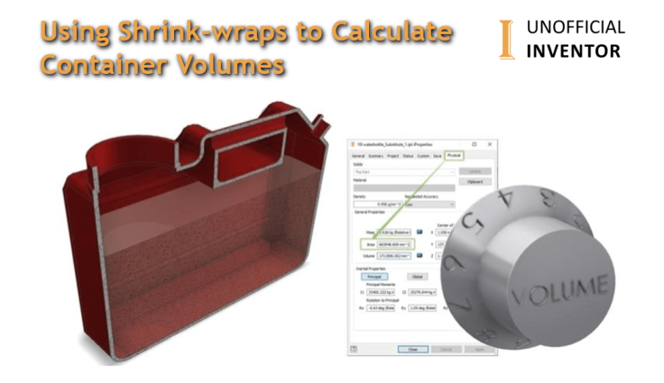 Calculate container volumes in Autodesk Inventor