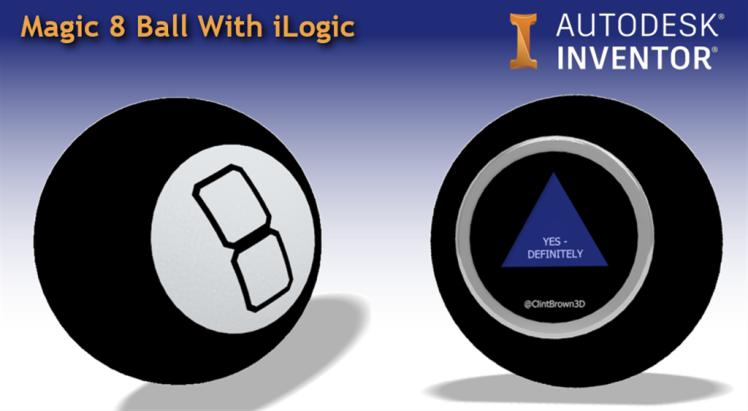 Magic 8 ball Autodesk Inventor iLogic