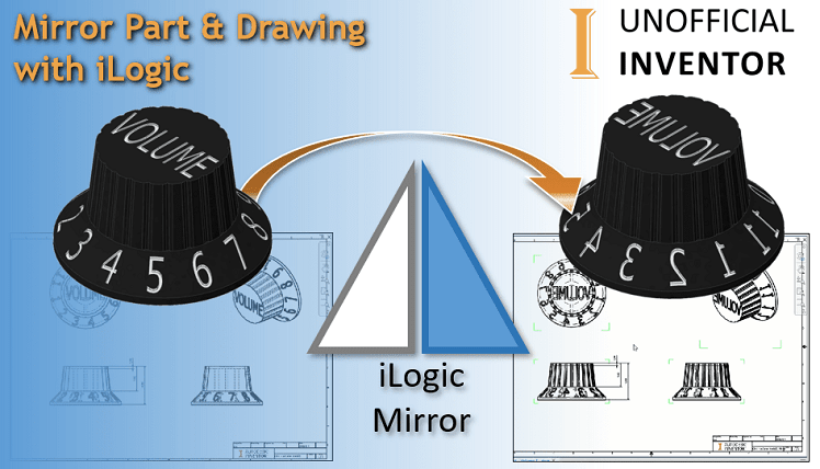 iLogic Mirror part drawing autodesk inventor clintbrown3d