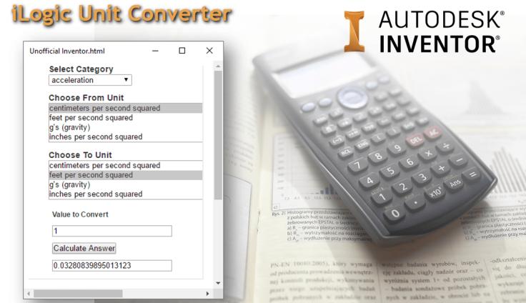 @ClintBrown3D Autodesk Inventor iLogic Unit Converter