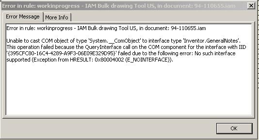 iLogic Error Message