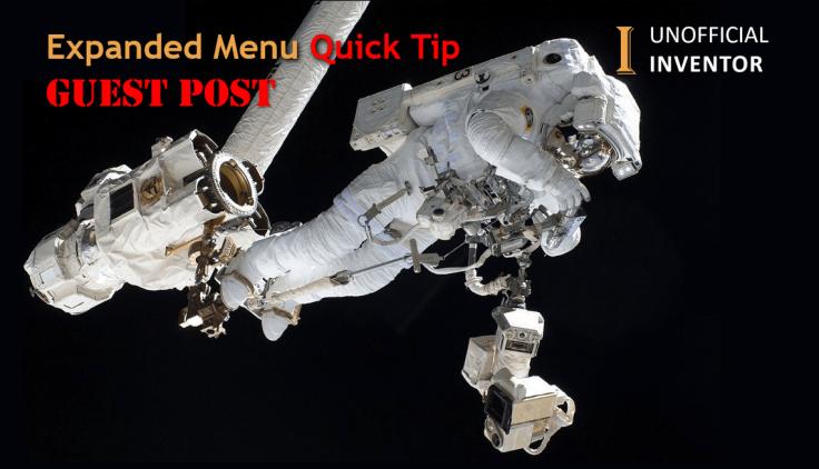 @ClintBrown3D Autodesk Inventor Expanded Menu Guest post